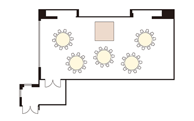 """Banquet Hall """"Louis"""" layout"""