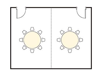 """Banquet Hall """"Gyoun"""" layout"""