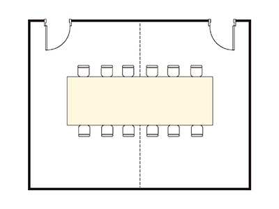 Square-shaped layout