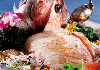 中国料理 桃李「鯛の刺身 桃李風」