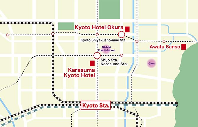 Karasuma Kyoto Hotel map